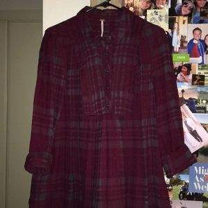 Free People flannel.